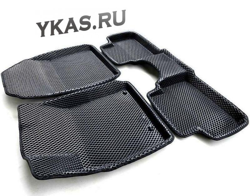 Коврики Hyundai Creta c 2016г-   основа черная, кант черный  EVA 3D