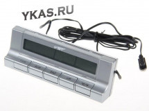 Авточасы  VST 7037 термометр внутр. наруж./часы/подсветка