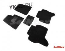 Коврики  Mitsubishi Pagero IV c 2006г.  /компл.5шт./осн.резин./ 3D