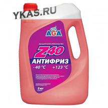 AGA 002Z Антифриз  5литр., красный , -40С