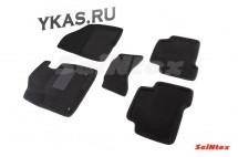 Коврики  Hyundai Santa Fe Classic 2012-2018г.  /компл.5шт./осн.резин./ 3D