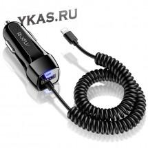 Зарядн.устр-во для телефона  Floveme  кабель витой (50-130см)  Type-C + 1USB