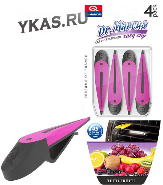 Осв.воздуха DrMarcus на дефлектор  EASY CLIP  Tutti Frutti