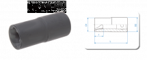 Головка для поврежденного крепежа, 19 мм _37161