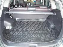 Коврик багажн.  Hyundai Santa Fe 5 мест (06-)   (РЕЗИНА)