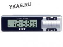 Авточасы  VST 7065 B LCD диспл. с будильн.,календарь,секундомер,таймер