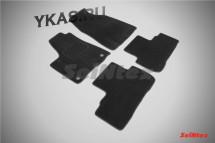 Коврики текстильн. Toyota Highlander II 2007-2014г.  /компл.4шт./осн.резин./ LUX