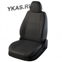 АВТОЧЕХЛЫ  Экокожа  Toyota Camry VII с 2012г-  черный-серый