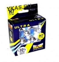 Лампа МАЯК 12V    H7   55W  Ultra  PX26d Super  White+30% (к-т.2шт)