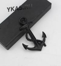 Наклейка 3D   Якорь (7,8x5,2см)  Черный