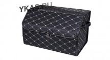 Сумка органайзер в багажник «M» 45/30/30 черный/шов бежевый