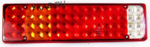 Фонарь задний унив. гладкий LED (компл. L+R) на светодиодах (7 секций)