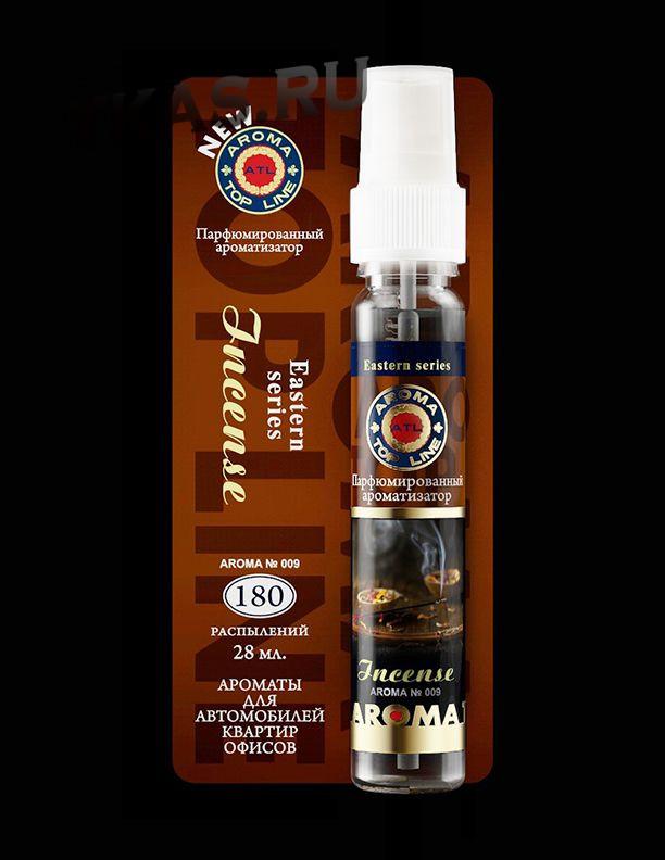 Осв.возд.  AROMA  Topline  Спрей Восточная серия  №009  Incens aroma  (аромат ладана ,  древесная см