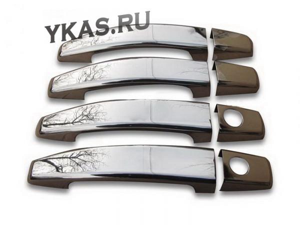 Накладки на ручки дверей  Suzuki  SX4 с 2013г-