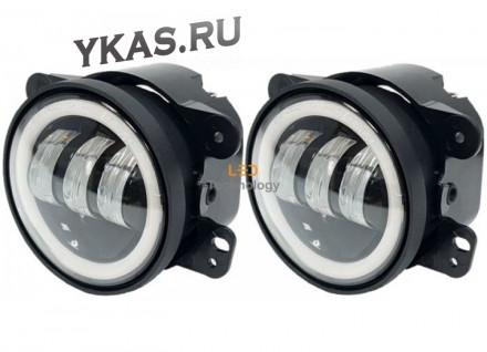 Фары  доп.модельные LADA PRIORA старого образца LED+ободок   (компл.2шт)