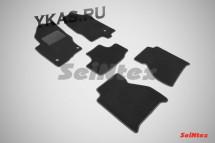 Коврики текстильн. Nissan Navara III с 2010г- /компл.5шт./осн.резин./ LUX