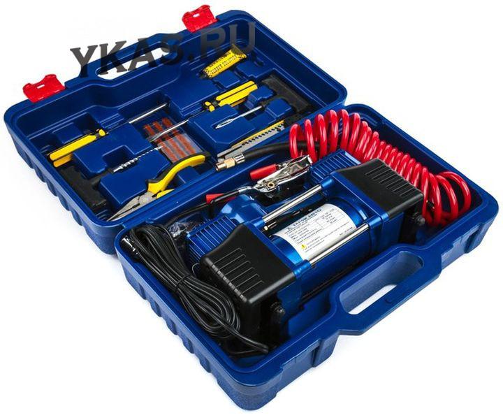 Компрессор  АС 625 МА  двухпоршневой в КЕЙСЕ с набором инструментов