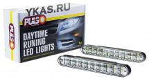 Ходовые огни  PULSO  DRL 20SMD 5050  6W  12V  пластик  190*25mm/с поворотами