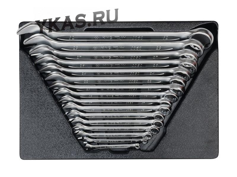 Набор комбинированных ключей, ложемент, 16 предметов _37044