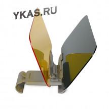 Козырек солнцезащитный  HD Visior  (2в1)  черный/желтый  (с регулировкой крепления)