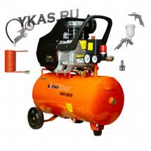 Foxweld  Компрессор AERO бак 24л,  220 л/мин. (1,5кВт) + набор