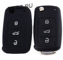 Чехол силиконовый для ключа зажигания  VW (три кнопки)