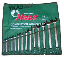 Инструмент HANS. Набор ключей комбинированных 14пр. 10-32мм