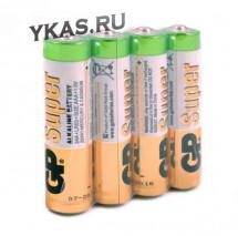 Батарейки GP   AAA  (Мизинчиковые) Super Alkaline цена за 4шт.