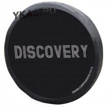Чехол на запаску «DISCOVERY», Черный/Серый, S  (d до 72см)