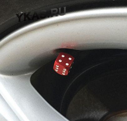 Колпачки на нипель  Игральные кости  Красный (цена за 1шт)