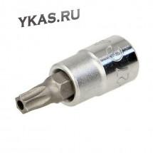 """Инструмент HANS. Торцевая головка 1/4"""" TORX с отверстием T25 короткая L 32mm"""