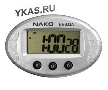 Авточасы  NAKO  NA-823A  часы+секундомер+будильник