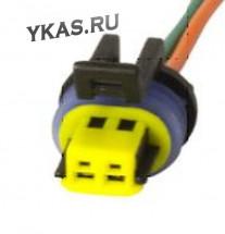 ЭТ Колодка датчика температуры ВАЗ с проводами  (цена за 1штук)