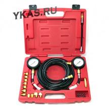 Манометр для измерения давления масла, 2 манометра 7 и 35 бар, комплект адаптеров _39364