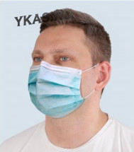 Маска медицинская трехслойная, одноразовая CLIM ART V.Protect  (УПАК.25ШТ)  ГОСТ Р 58396, голубой