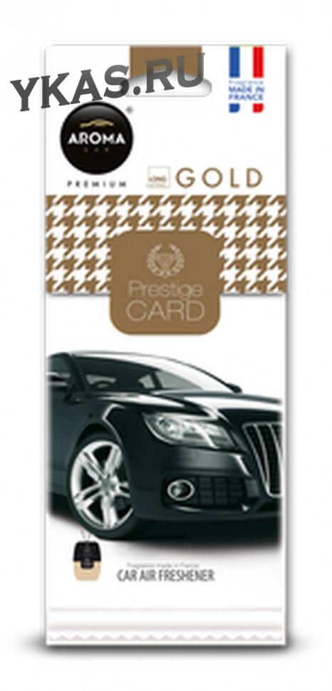 """Осв.возд. AROMA  Prestige CARD  GOLD  (листик-premium class, запах Paco Rabanne """"Invictus"""")"""