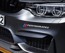 "Наклейка ""BMW M Performance""  28см. белый"
