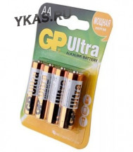 Батарейки GP   AA   (Пальчиковые) ULTRA цена за 4шт. (блистер)