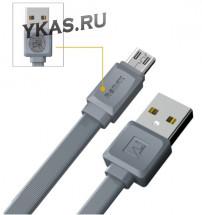 Кабель REMAX  USB - micro USB  (1м)  серый