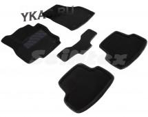 Коврики текстильн. Skoda Karoq c 2020г  /компл.5шт./осн.резин./ 3D